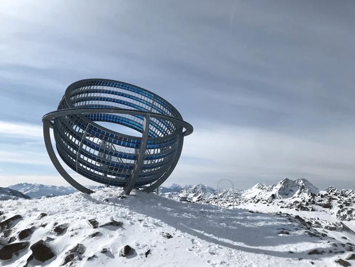 Фото №2 - Новый арт-объект Олафура Элиассона в горах Тироля