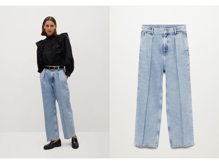 Фото №2 - Голубые джинсы— самая главная покупка лета. Рассказываем, на какие модели обратить внимание