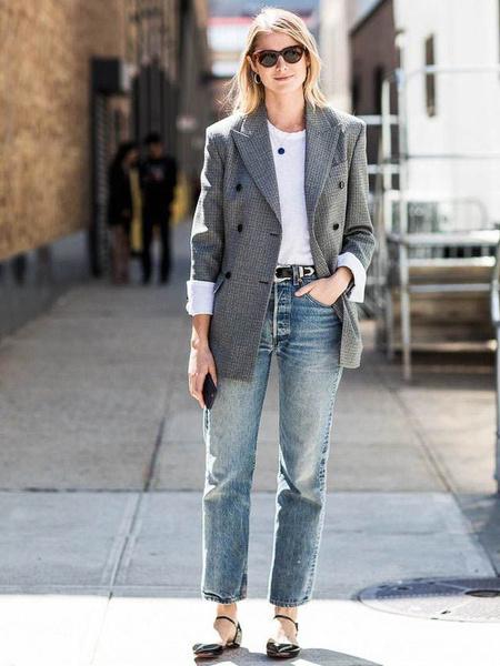 Фото №8 - Just wear it: 5 простых, но стильных осенних образов с джинсами