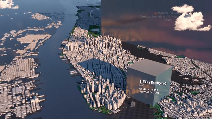 Фото №1 - Наглядные размеры Интернета и как он вымахал за последние 20 лет (внушающее видео)