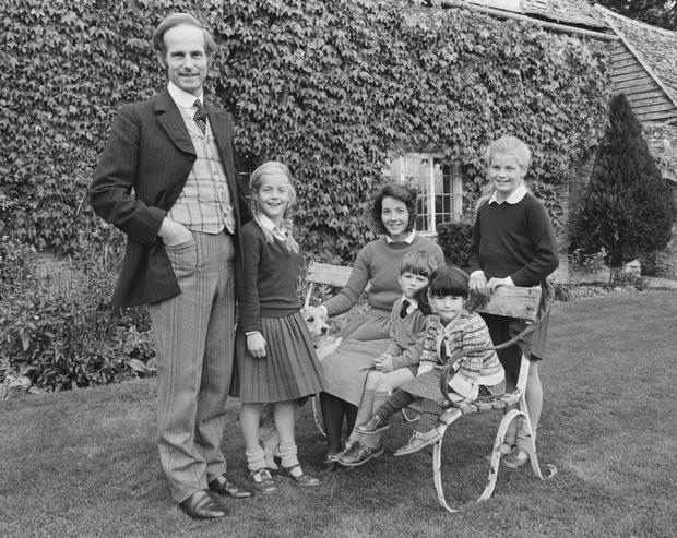 Александра Толстая с семьей