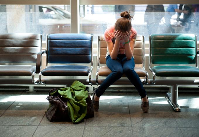 Девушка в аэропорте