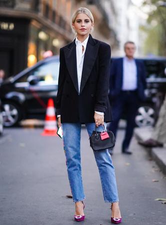 Фото №3 - С чем носить базовые прямые джинсы: модные идеи на любой случай