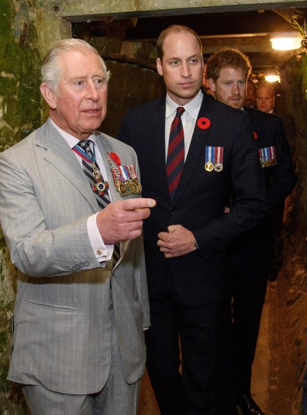 Принц Чарльз, принц Уильям, принц Гарри