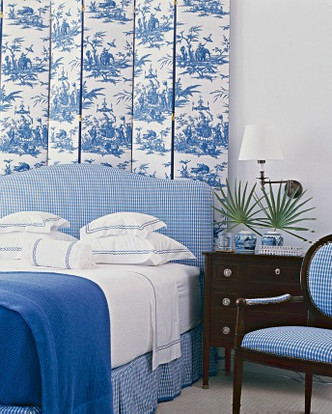 Спальня в доме в Палм-Бич, проект дизайнера Келлера Донована.