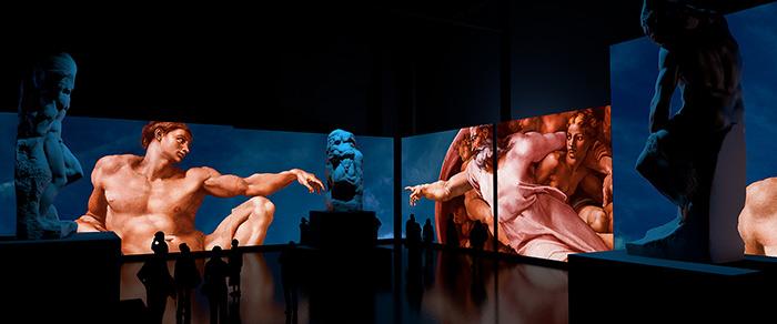Фото №1 - Открытие выставки «Микеланджело. Сотворение мира»