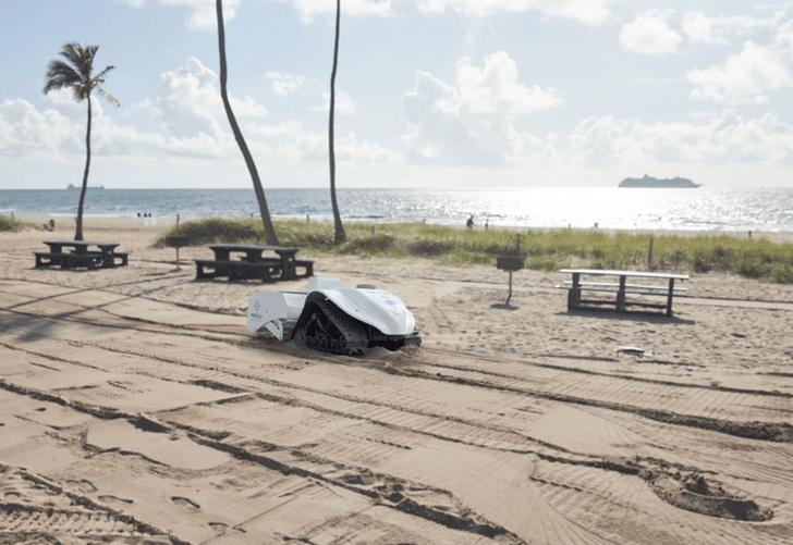 Фото №1 - В США создали робота для очистки пляжей