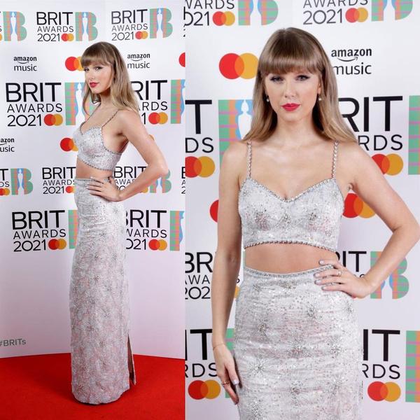 Фото №3 - Гарри Стайлс, Дуа Липа, Тейлор Свифт— лучшие образы с премии Brit Awards 2021