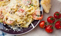 Паста с креветками и сливочным соусом от Александра Бельковича