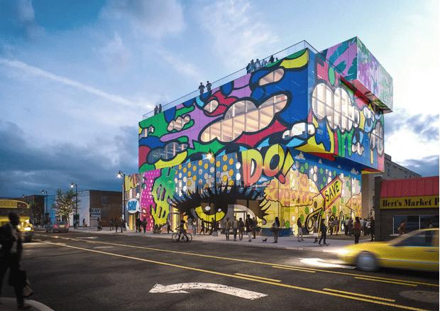 Фото №4 - Стеклянный дом с граффити в Детройте