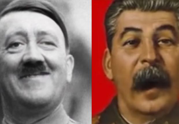 Фото №1 - Фотографии Гитлера и Сталина «оживили» с помощью нейросетей и заставили петь дуэтом (видео)