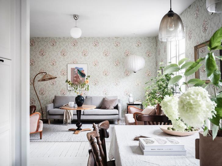 Фото №1 - Уютная квартира с мансардой в Швеции