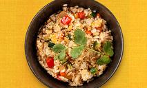 Рис по-японски с имбирем и овощами
