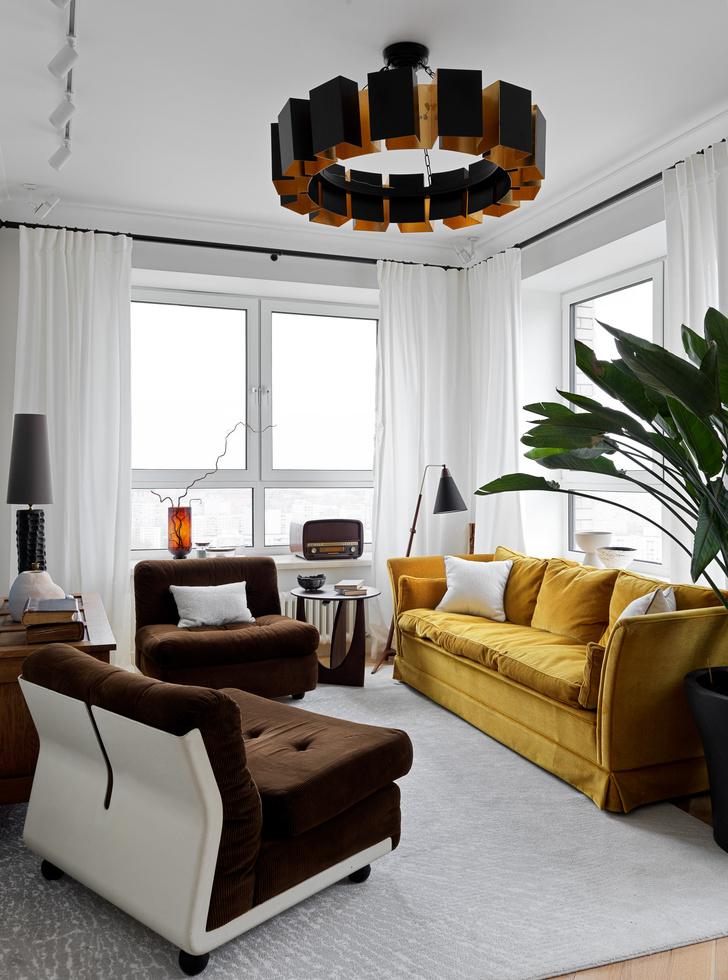 Фото №9 - Современная квартира с винтажной мебелью