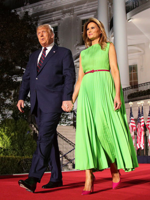 Фото №8 - Лучшие образы Мелании Трамп в 2020 году