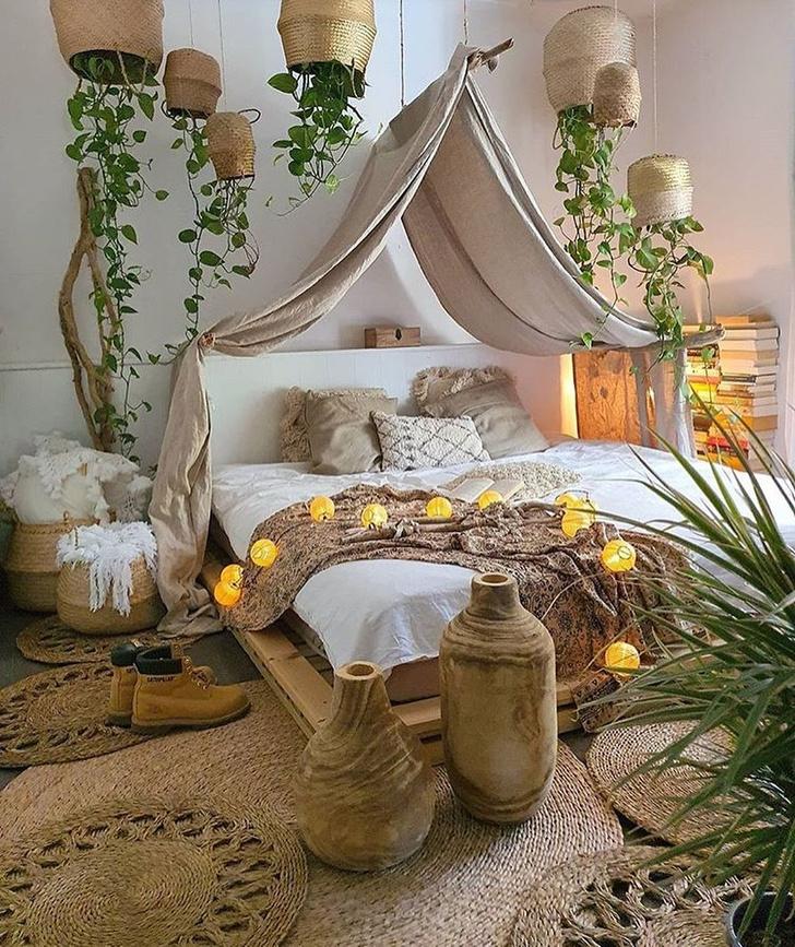 Фото №12 - Спальня в стиле бохо: идеи оформления