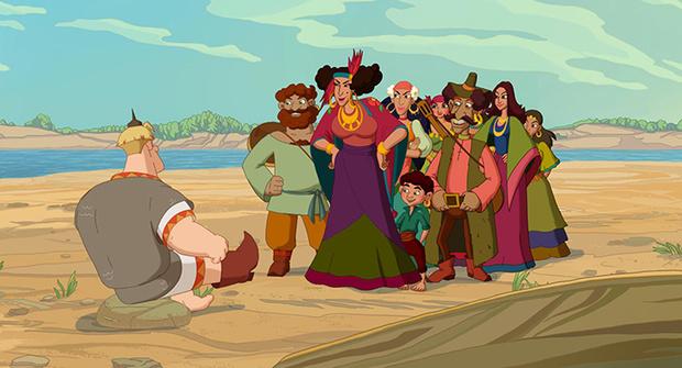 Фото №2 - На экраны выходит мультфильм «Три богатыря. Ход конем»