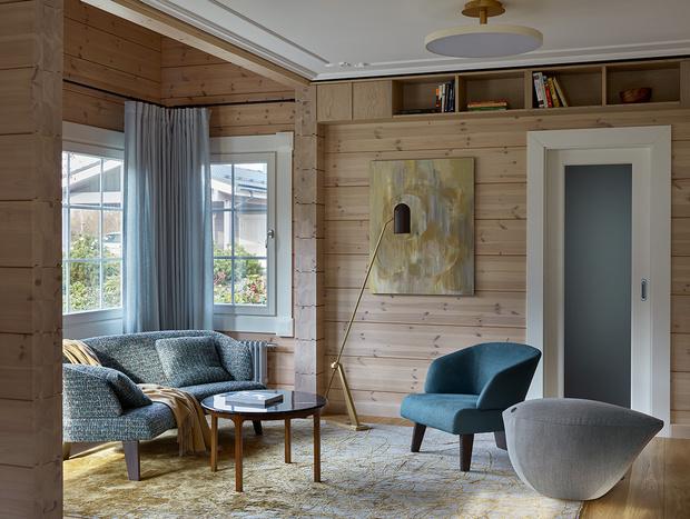 Фото №11 - Современный интерьер в деревянном доме в Подмосковье