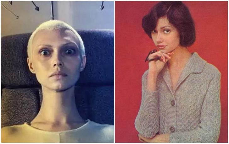 Фото №1 - Как выглядела советская модель Елена Метёлкина, когда не играла инопланетянку