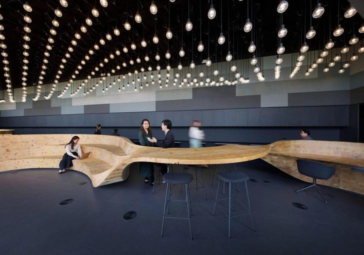 Фото №1 - Коворкинг в Токио: новый проект бюро Snøhetta