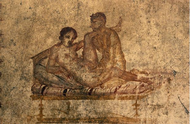 Фото №1 - Эротические фрески из Помпеи: а римляне в этом знали толк!