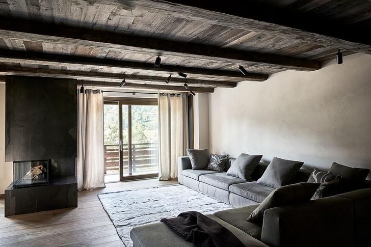 Фото №1 - Современное альпийское шале в оттенках серого