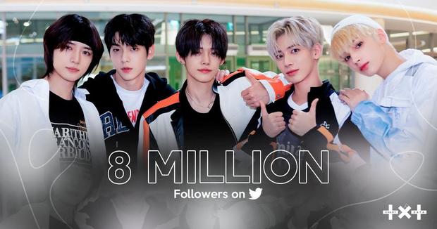 Фото №1 - Гордитесь, BTS! TXT набрали 8 млн подписчиков в Твиттере