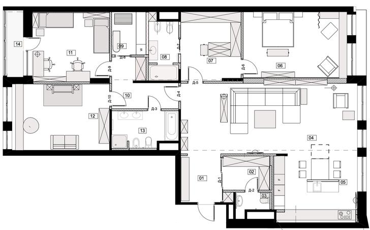 Фото №14 - Светлая квартира с панорамными окнами в Хамовниках
