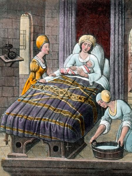 Фото №2 - Страшнее чумы: как принимали роды в Средневековье