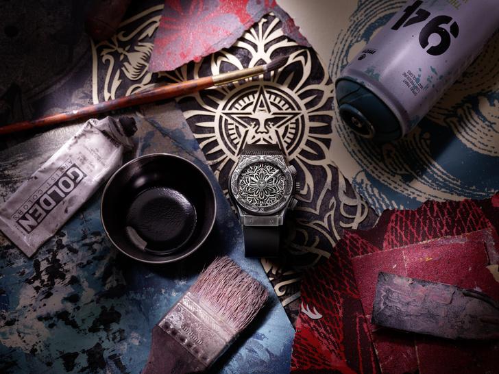 Фото №1 - Символ гармонии: Hublot и Шепард Фейри представили новые стильные часы