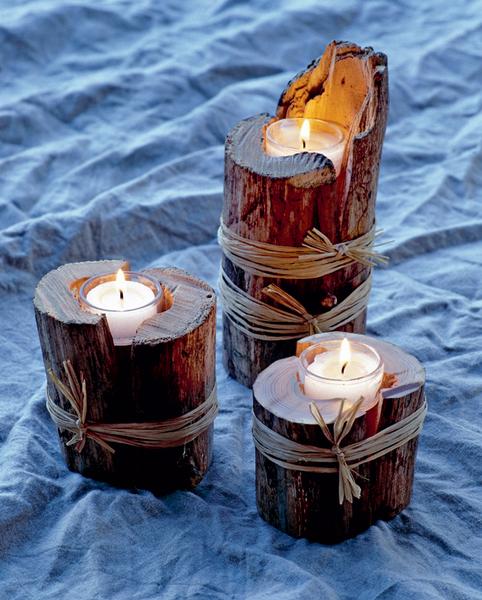 подсвечники для новогодних свечей своими руками