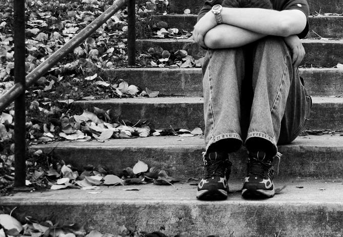 Подросток на лестнице