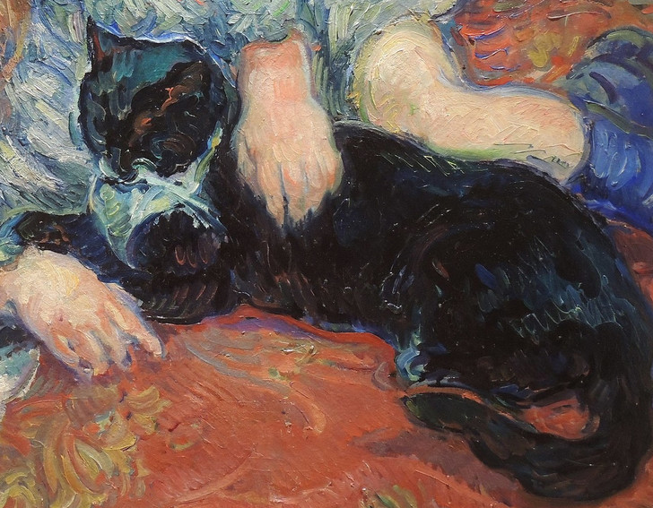 Фото №1 - Галерея: коты и кошки на картинах русских художников