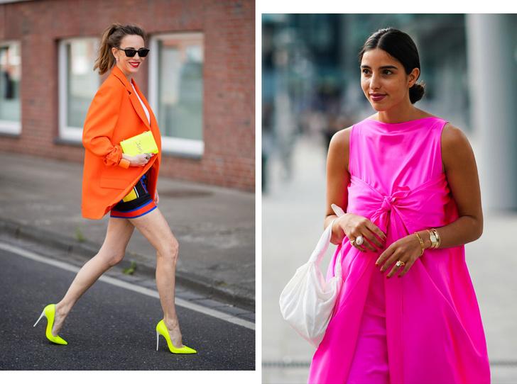 Фото №1 - В офис и на свидание: как носить модные неоновые оттенки