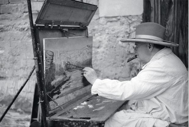Раз начав, он занимался  живописью всю жизнь