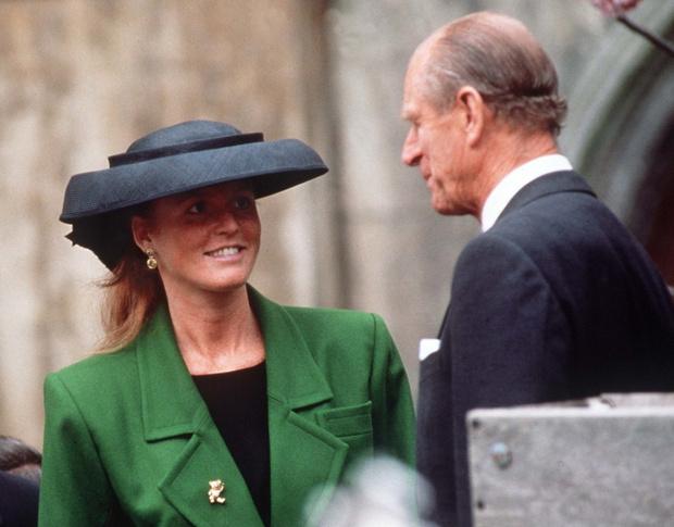 Сара Фергюсон и принц Филипп