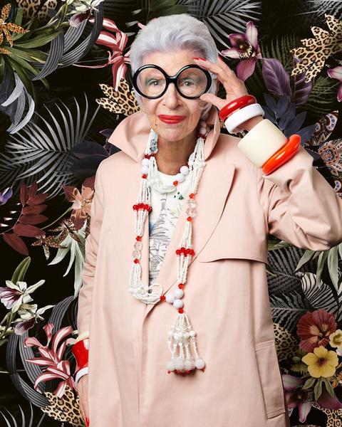 Фото №4 - Моднее всех живых! Фэшн-легенда Айрис Апфель отмечает 100-летний юбилей
