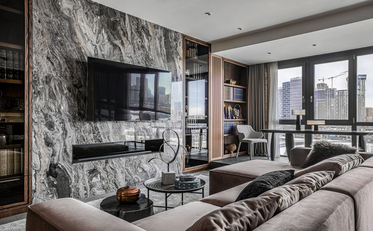 Фото №1 - Этника и современный дизайн в квартире на Пресне