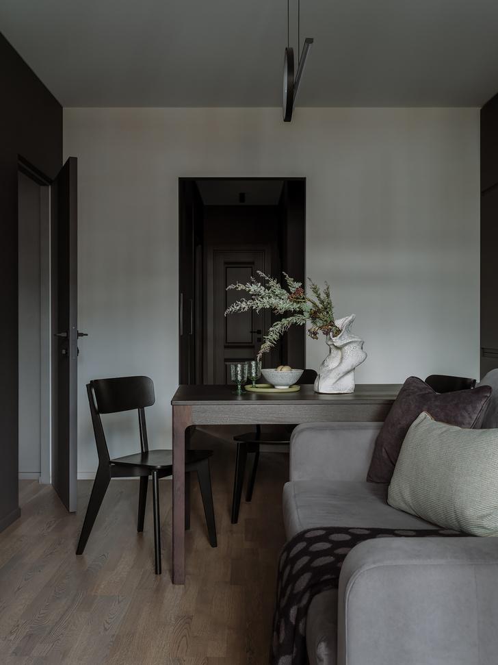 Фото №5 - Квартира 55 м² в темных тонах для молодой семьи в Подмосковье
