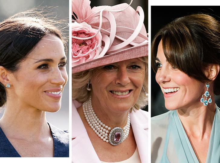 Фото №1 - От герцогини Кейт до кронпринцессы Мэри: как королевские особы носят топазы