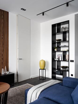Фото №4 - Московская квартира 120 м² с красно-синими акцентами