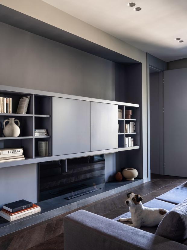 Фото №5 - Квартира с камином в нейтральных оттенках 66 м²