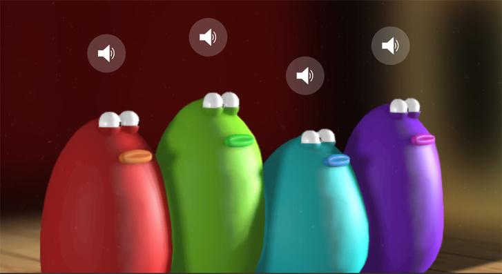 Фото №1 - Новый залипчивый сайт, в котором надо управлять оркестром из пластилиновых капель,— Blob Opera