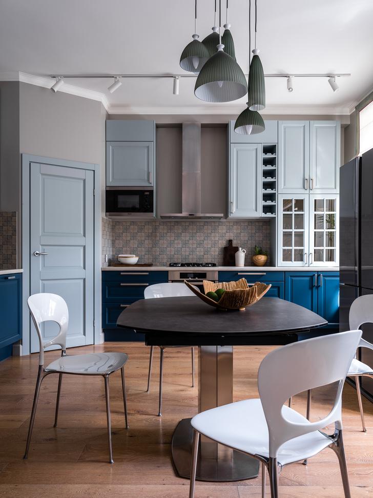 Фото №1 - Московская квартира 90 м² в серо-голубых тонах