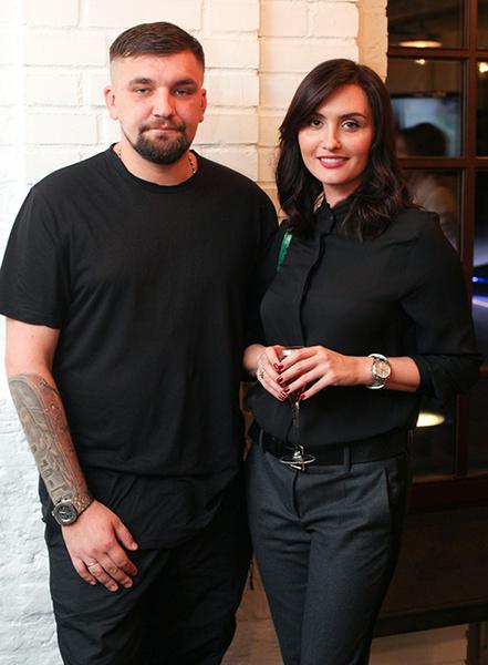 Репер Баста с женой Еленой Вакуленко
