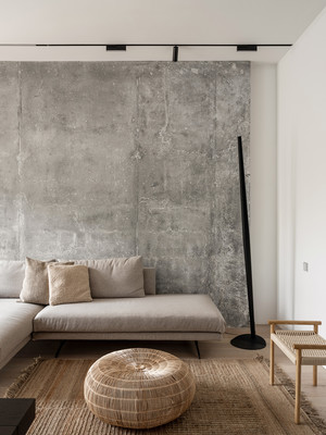 Фото №4 - За бетонной стеной: архитектурная квартира 125 м² в Москве