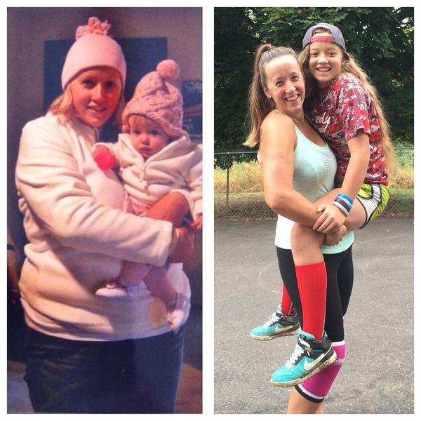Фото №5 - Женщина сбросила 60 кило после 9-х родов: фото до и после