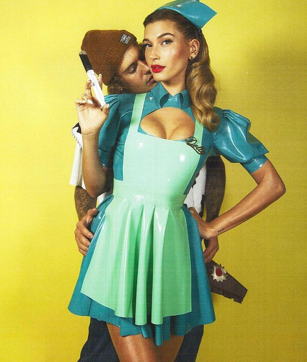 Фото №2 - Действуй, сестра: Хейли Бибер в латексном костюме сестры Рэтчед