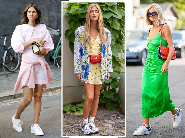 Фото №1 - Какие платья можно носить с кроссовками: советы стилиста