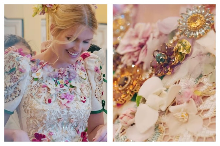 Фото №4 - Абсолютный рекорд: пять кутюрных платьев невесты на королевской свадьбе Китти Спенсер